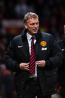 Saturday 11 January 2014 Pictured: David Moyes, Manager of Manchester United<br /> Re: Barclays Premier League Manchester Utd v Swansea City FC  at Old Trafford, Manchester