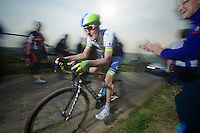 Luke Durbridge (AUS/Orica-GreenEDGE) up the Paterberg (max 20%)<br /> <br /> 57th E3 Harelbeke 2014