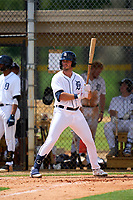 FCL Tigers West Austin Murr (38) bats during a game against the FCL Yankees on July 31, 2021 at Tigertown in Lakeland, Florida.  (Mike Janes/Four Seam Images)