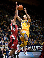 Justin Cobbs of California shoots the ball during the game against Stanford at Haas Pavilion in Berkeley, California on January  29th, 2012.   California defeated Stanford, 69-59.