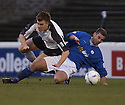 13/12/03          Copyright Pic : James Stewart.File Name : stewart002-ayr v st john.AYR'S DUNLOP IS CHALLENGED BY ST JOHNSTONE'S MACDONALD....Payment should be made to :-.James Stewart Photo Agency, 19 Carronlea Drive, Falkirk. FK2 8DN      Vat Reg No. 607 6932 25.Office     : +44 (0)1324 570906     .Mobile  : +44 (0)7721 416997.Fax         :  +44 (0)1324 570906.E-mail  :  jim@jspa.co.uk.If you require further information then contact Jim Stewart on any of the numbers above.........