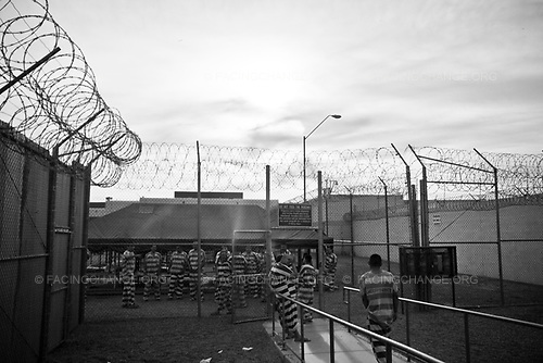 Phoenix, Arizona ,USA<br /> June 2010<br /> <br /> Inmates spend their day under tents at the section 287G that house the undocumented immigrants at tent city in Sheriff Joe Arpaio's jail in Maricopa County, Phoenix 30, July 2010. Contraversial Sheriff Joe has under heavy criticism form various human rights groups for his treatments of prisoners.