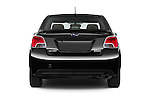 Straight rear view of a 2015 Subaru Impreza premium 4 Door Sedan stock images