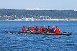 Port Townsend, Rat Island Regatta, rowers, kayakers, standup paddlers, racing, Sweet 16; Wooden Oct, Bow 23, Sound Rowers, Rat Island Rowing Club, Puget Sound, Olympic Peninsula, Washington State, water sports, rowing, kayaking, competition,