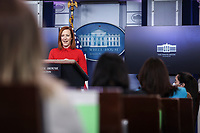 White House Press Secretary Jen Psaki speaks during a press briefing in the Brady Press Briefing Room of the White House on Wednesday, February 17, 2021, in Washington, DC. <br /> Credit: Oliver Contreras / Pool via CNP /MediaPunch