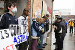 Protestors take part in the March in March outside the TVA headquarters in Knoxville, Tennessee, are arrested by police. The protestors were protesting coal mining during an event called Mountain Justice Spring Break on March 14, 2009 in the United States of America