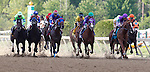May 17, 2014. Start of the race: California Chrome, Victor Espinoza up, wins the 139th Preakness Stakes at Pimlico Race Course in Baltimore, MD. ©Joan Fairman Kanes/ESW/CSM