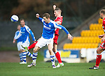 St Johnstone v Ross County...17.11.12      SPL.Steven MacLean and Iain Vigurs.Picture by Graeme Hart..Copyright Perthshire Picture Agency.Tel: 01738 623350  Mobile: 07990 594431