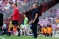 29th August 2021; Nou Camp, Barcelona, Spain; La Liga football league, FC Barcelona versus Getafe; Ronald Koeman, coach of Barca watches closely
