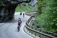 eventual stage winner Dan Martin (IRE/Israel Start-Up Nation) up the Passo di San Valentino (cat.1)<br /> <br /> 104th Giro d'Italia 2021 (2.UWT)<br /> Stage 17 from Canazei to Sega di Ala (193km)<br /> <br /> ©kramon