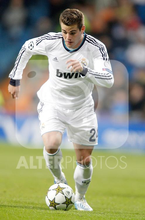 Real Madrid's Nacho during Champions League Match. December 04, 2012. (ALTERPHOTOS/Alvaro Hernandez)