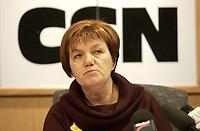 Montreal,(Qc) CANADA -Dec 12 2003 file photo - Claudette Charbonneau, Pesidente CSN