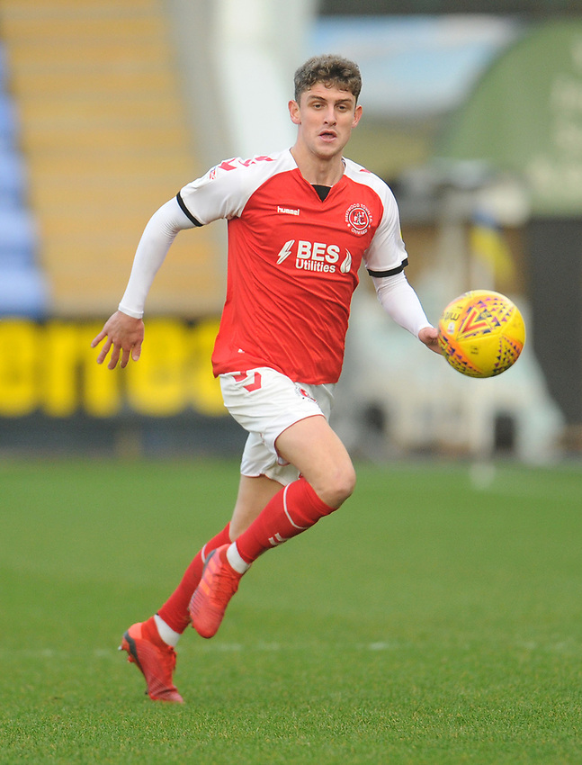 Fleetwood Town's Harrison Biggins<br /> <br /> Photographer Kevin Barnes/CameraSport<br /> <br /> The EFL Sky Bet League One - Shrewsbury Town v Fleetwood Town - Tuesday 1st January 2019 - New Meadow - Shrewsbury<br /> <br /> World Copyright © 2019 CameraSport. All rights reserved. 43 Linden Ave. Countesthorpe. Leicester. England. LE8 5PG - Tel: +44 (0) 116 277 4147 - admin@camerasport.com - www.camerasport.com