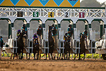 Combatant with Drayden Van Dyke  jumps at the start of the San Diego Handicap at Del Mar, in Del Mar Ca, July 25, 2020. (Photo: Alex Evers)