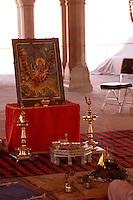 Indien, Rajasthan, Jaipur, Durga Puja (Opfer für die Göttin Durga) im City-Palast