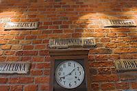 Europe/Pologne/Lodz: le Complexe Manufaktura dans l'ancienne fabrique de textile de Poznanski- l'ancienne horloge de l'usine