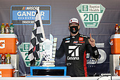 HOMESTEAD, FLORIDA - JUNE 13: Kyle Busch, driver of the #51 Cessna Toyota, celebrates in Victory Lane after winning the NASCAR Gander RV & Outdoors Truck Series Baptist Health 200 at Homestead-Miami Speedway on June 13, 2020 in Homestead, Florida. (Photo by Chris Graythen/Getty Images)