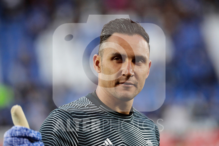 Real Madrid's Keylor Navas during La Liga match between CD Leganes and Real Madrid at Butarque Stadium in Leganes, Spain. April 15, 2019. (ALTERPHOTOS/A. Perez Meca)