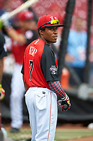 Team USA Tony Kemp (7) during practice before the MLB All-Star Futures Game on July 12, 2015 at Great American Ball Park in Cincinnati, Ohio.  (Mike Janes/Four Seam Images)