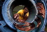 Zona Industrial de la planta Maria Dama, taller de bobinados electricos, electricidad,electricista