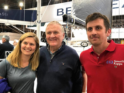 Joan Mulloy, Jack Roy and Tom Dolan and the Paris Boat Show, December 2018. Photo: Rosemary Roy