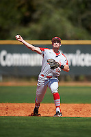 Ball State Cardinals shortstop Alex Maloney (6) during practice before a game against the Villanova Wildcats on March 3, 2017 at North Charlotte Regional Park in Port Charlotte, Florida.  Ball State defeated Villanova 3-1.  (Mike Janes/Four Seam Images)