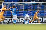 St Johnstone v Motherwell…17.12.16     McDiarmid Park    SPFL<br />Zander Clark lies on the pitch after his howler gifted Richard Tait the opening goal<br />Picture by Graeme Hart.<br />Copyright Perthshire Picture Agency<br />Tel: 01738 623350  Mobile: 07990 594431