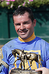 Awesome Bet, Kent Desormeaux up, wins the 5th running of the Barbaro Stakes at Delaware Park. Trainer is Steve Asmussen; owner is Mike McCarty. Stanton, DE, July 9, 2011. (Joan Fairman Kanes/Eclipsesportswire)