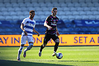 24th April 2021; The Kiyan Prince Foundation Stadium, London, England; English Football League Championship Football, Queen Park Rangers versus Norwich; Kenny McLean of Norwich City is under pressure from Chris Willock of Queens Park Rangers