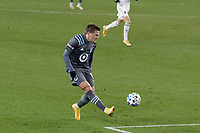 ST PAUL, MN - NOVEMBER 22: Robin Lod #17 of Minnesota United FC takes a shot during a game between Colorado Rapids and Minnesota United FC at Allianz Field on November 22, 2020 in St Paul, Minnesota.
