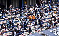 KANSAS CITY, KS - SEPTEMBER 19: Sporting Kansas City fans pictured during the match during a game between FC Dallas and Sporting Kansas City at Children's Mercy Park on September 19, 2020 in Kansas City, Kansas.