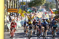 4th September 2020; Millau to Lavaur, France. Tour de France cycling tour, stage 7; Jumbo - Visma Van Aert, Lavaur
