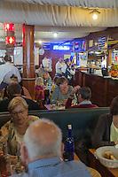 France, Pas-de-Calais (62), Côte d'Opale, Boulogne-sur-Mer:   Brasserie: Le Chatillon, au port de pêche // France, Pas de Calais, Opal Coast, Boulogne sur Mer: Brasserie Le Chatillon, at the fishing port