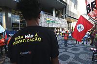 Rio de Janeiro (RJ), 20/02/2020 - Protesto-Rio - Hoje faz 20 dias da greve dos petroleiros. Um grande grupo esta acampado na porta da sede da Petrobras na avenida Chile, centro do Rio nesta quinta-feira, (20). (Foto: Ellan Lustosa/Codigo 19/Codigo 19)