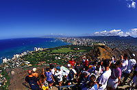 View from atop Diamond head state monument