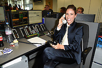 Johanna Konta<br /> on the trading floor for the BGC Charity Day 2016, Canary Wharf, London.<br /> <br /> <br /> ©Ash Knotek  D3152  12/09/2016