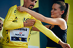 Race leader Julian Alaphilippe (FRA) Deceuninck-Quick Step retains the Yellow Jersey at the end of Stage 16 of the 2019 Tour de France running 177km from Nimes to Nimes, France. 23rd July 2019.<br /> Picture: ASO/Thomas Maheux   Cyclefile<br /> All photos usage must carry mandatory copyright credit (© Cyclefile   ASO/Thomas Maheux)