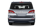 Straight rear view of 2017 Nissan Quest SV 5 Door Minivan Rear View  stock images