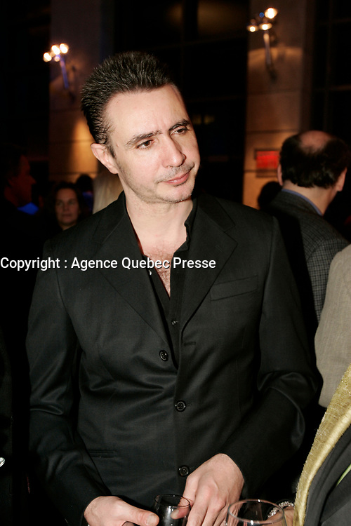 October 14 2004, Montreal (Quebec) CANADA<br /> Choregrapher Edouard Lock at the New Cinema Festival in Montreal<br /> opening reception, October 14 2004<br /> <br /> Photo : AQP - Pierre Roussel