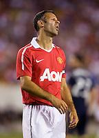 Ryan Giggs. Manchester United defeated Philadelphia Union, 1-0.