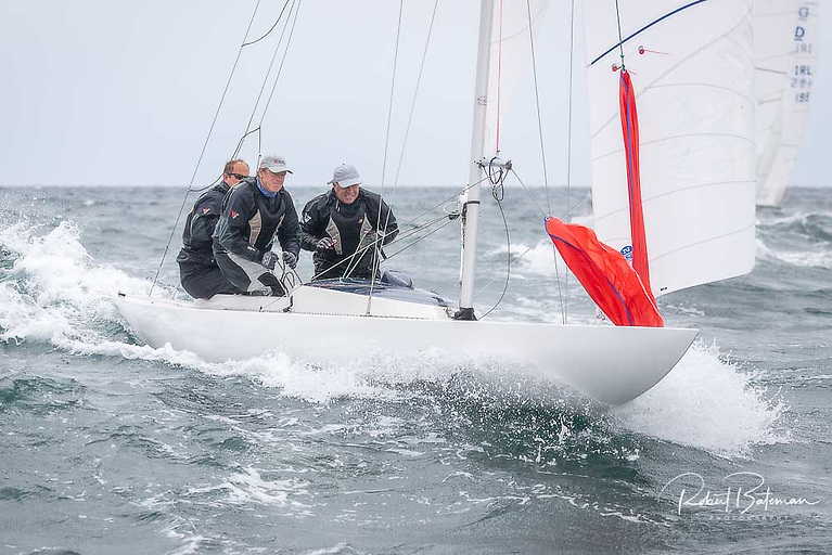 Fourth overall - Cameron Good, Simon Furney & Henry Kingston Photo: Bob Bateman