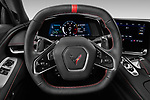 Car pictures of steering wheel view of a 2020 Chevrolet Corvette-Stingray 1LT 3 Door Targa Steering Wheel
