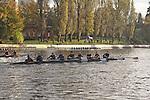 Rowing, Head of the Lake Regatta, November 8 2015, Seattle, Washington State, organized by the Lake Washington Rowing Club and the University of Washington, Lake Washington Ship Canal,