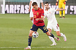 Spain's Sergio Canales (l) and Switzerland's Remo Freuler during UEFA Nations League 2020 League Phase match. October 10,2020.(ALTERPHOTOS/Acero)