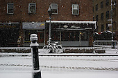 New York, New York<br /> USA<br /> February 21, 2011<br /> <br /> Near Pearl Street on a snowy President's day in Manhattan's Bowling Green district.