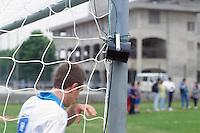 - Federazione Italiana Sport Disabili, partita di calcio con giocatori non vedenti; particolare del segnale acustico che indica la porta<br /> <br /> - Italian Federation of Sports for the Disabled, soccer game with blind players; detail of the beeper indicating the goal