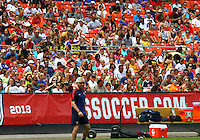 WASHINGTON D.C. - September 02, 2013:<br /> Part of the large crowd watching a USA WNT open practice at RFK Stadium, in Washington D.C. the day before the USA v Mexico international friendly match.