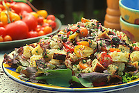 Bread salad recipe made with home grown tomatos and herbs, Michele Anna Jordon