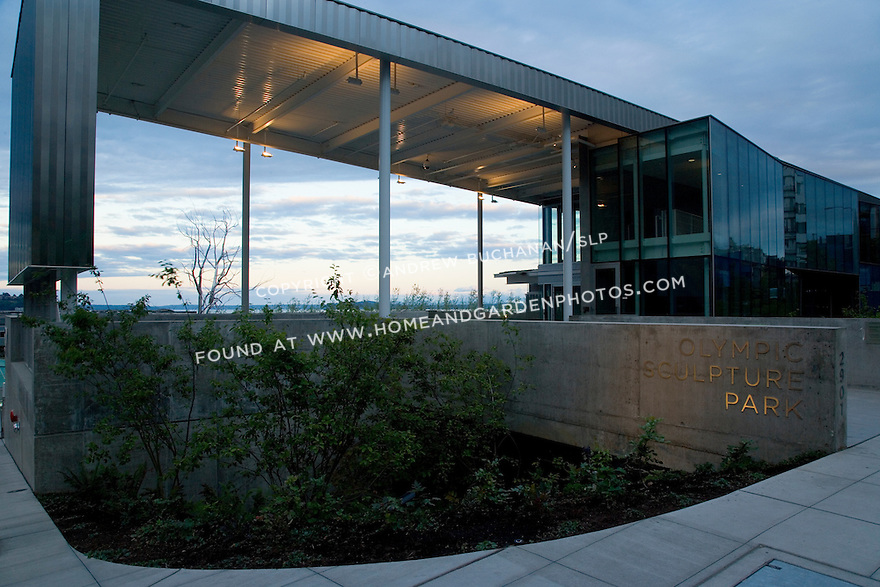 Entrance to the Paccar Pavilion at the Olympic Sculpture Park, Seattle.