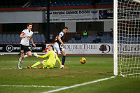 16th March 2021; Dens Park, Dundee, Scotland; Scottish Championship Football, Dundee FC versus Ayr United; Osman Sow of Dundee scores for 3-1 in the 85th minute